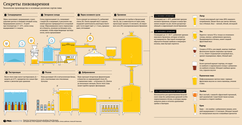 Brewing Secrets - Infografiken