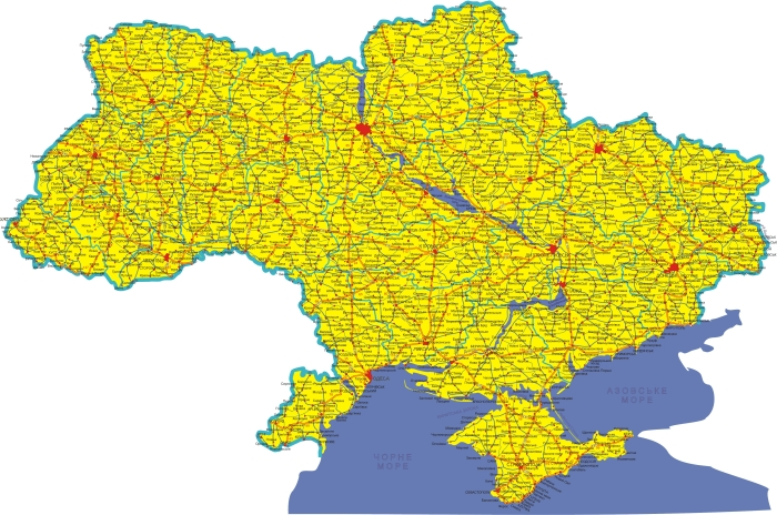 Atlas der Ukraine 4843x3207